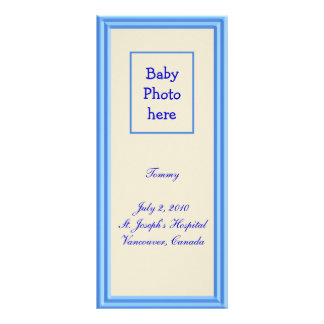 Birth Announcement Custom Rack Card