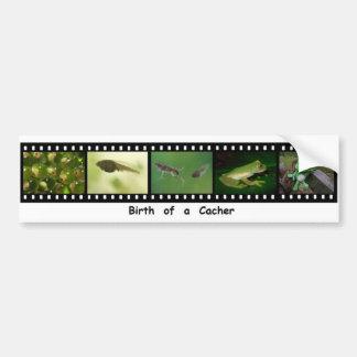 Birth of a Geocacher Filmstrip Bumper Sticker