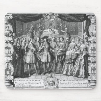 Birth of Louis, Dauphin of France Mouse Pad