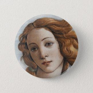 Birth of Venus close up head 6 Cm Round Badge
