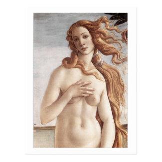 Birth of Venus in detail Postcard