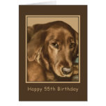Birthday, 55th, Golden Irish Dog Greeting Card