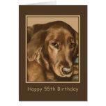 Birthday, 55th, Golden Irish Dog Greeting Card