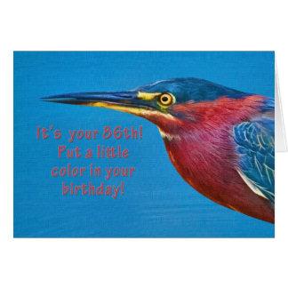 Birthday, 86th Green Heron Bird Card