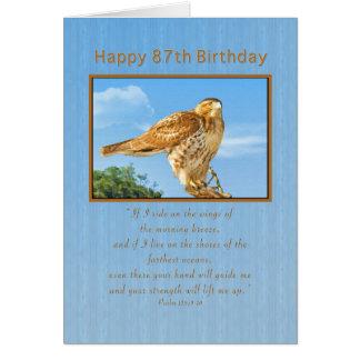 Birthday, 87th, Rough-legged Hawk Card