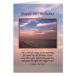 Birthday, 95th, Sunrise at the Beach, Religious Greeting Card