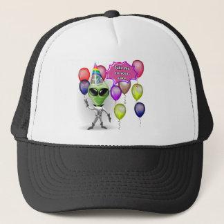 Birthday Alien Trucker Hat