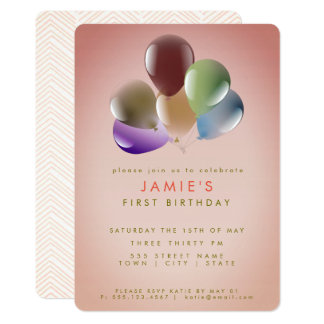 Birthday Balloons   Birthday Party Card