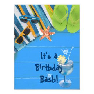 Birthday Bash Pool Party Card