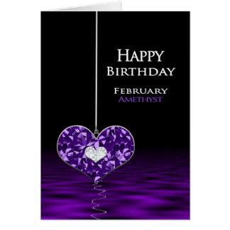 Birthday - Birthstone - February - Amethyst Card