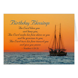 Birthday Blessings Numbers 6 The Lord Bless You Card