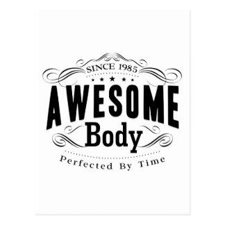 Birthday Born 1985 Awesome Body Postcard