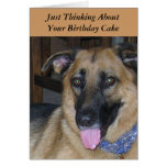 Birthday Cake Pavlov Dog Humour Greeting Card