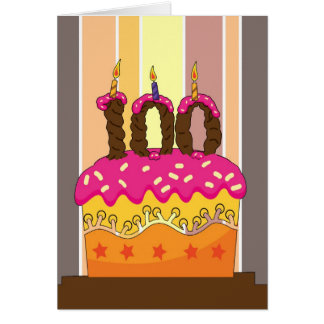 birthday - cake with candle 100 - 100th birthday g card