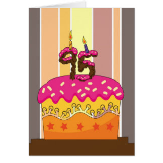 birthday - cake with candles 95 - 95th birthday gr greeting card