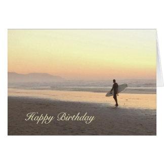 Birthday card: Surfer Card