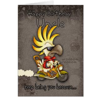 Birthday Card - Uncle Birthday Card - Cockatoo Bir