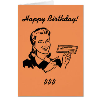 Birthday card with a vintage look