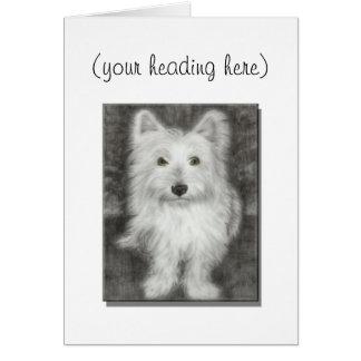 Birthday Card, with cute westie dog Greeting Card