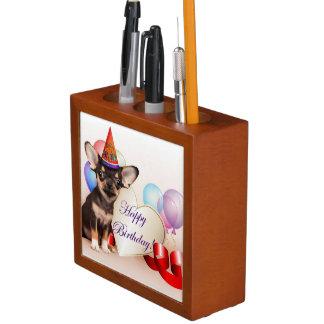 Birthday Chihuahua dog Desk Organiser
