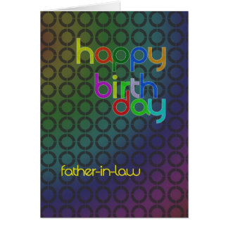 Birthday circles for father-in-law cards