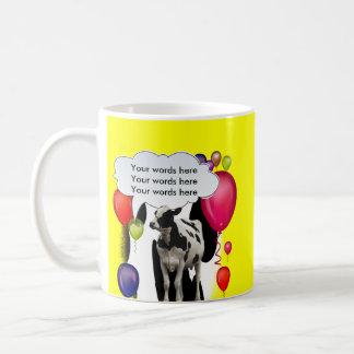 Birthday Cow Theme Party Basic White Mug
