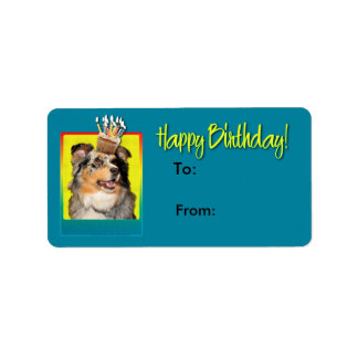 Birthday Cupcake - Australian Shepherd - Dustine Label
