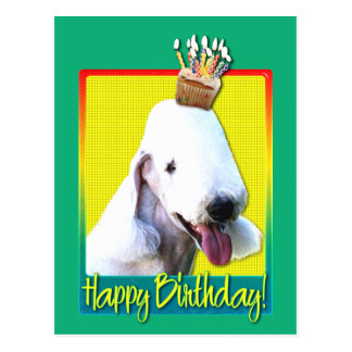 Birthday Cupcake - Bedlington Postcard