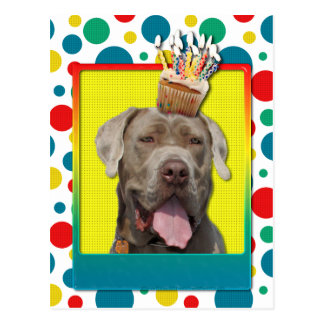 Birthday Cupcake - Mastiff - Snoop Postcard