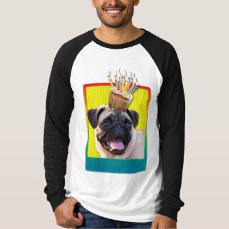 Birthday Cupcake - Pug T-Shirt
