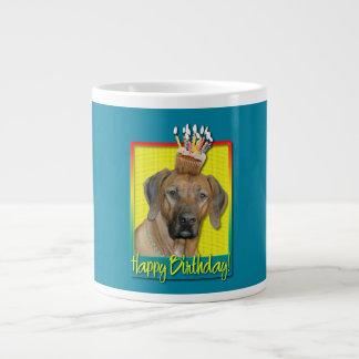 Birthday Cupcake - Rhodesian Ridgeback Large Coffee Mug