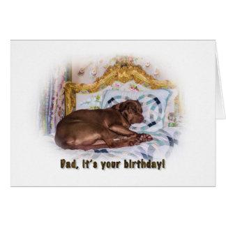Birthday, Dad, Labrador Retriever Dog, Card