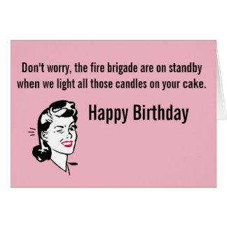Birthday Fire Brigade Card