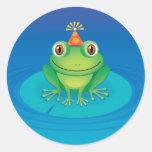 Birthday Frog Round Sticker