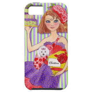 Birthday Girl with Dog Customizable Name & Age iPhone 5 Cover