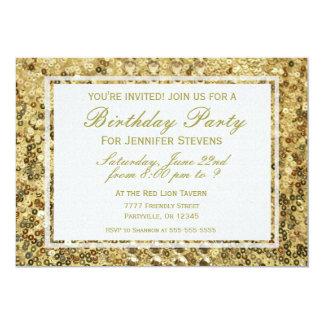 Birthday | Gold Confetti Glitter Bling