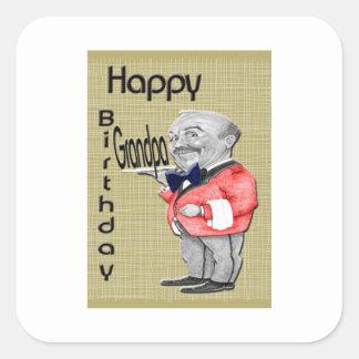 Birthday Grandpa waiter Square Sticker