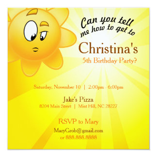 Birthday invite card