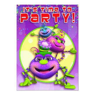 Birthday Invite-Itsy Bitsy Spiders (GiggleBellies) 11 Cm X 16 Cm Invitation Card
