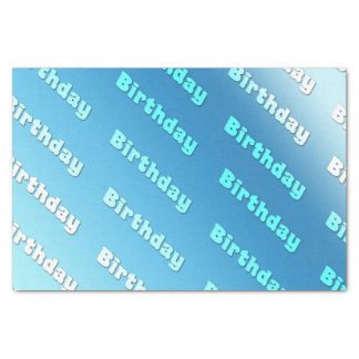 Birthday (light blue) tissue paper