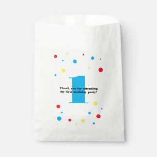 Birthday Number Colour Polka Dots Favour Bags
