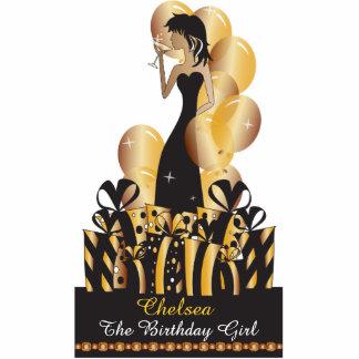 Birthday or Bachelorette Diva Girl   Citrine Cut Out