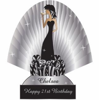 Birthday or Bachelorette Diva Girl   Silver Photo Sculptures