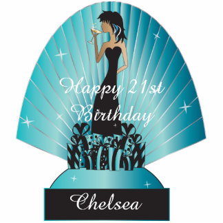 Birthday or Bachelorette Diva Princess Girl - Blu Photo Cut Outs