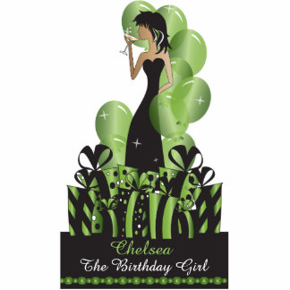 Birthday or Bachelorette Diva Princess | Green Standing Photo Sculpture