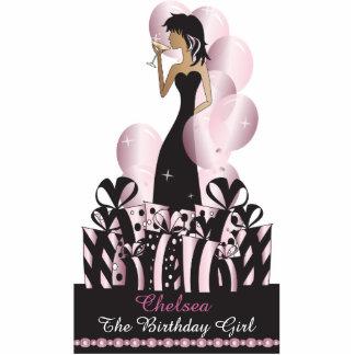 Birthday or Bachelorette Diva Princess | Pink Standing Photo Sculpture