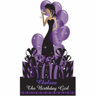 Birthday or Bachelorette Diva Princess   Purple Acrylic Cut Out