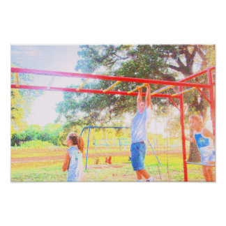 BIRTHDAY PARTY AT THE PARK #6 MONKEY BARS POSTER