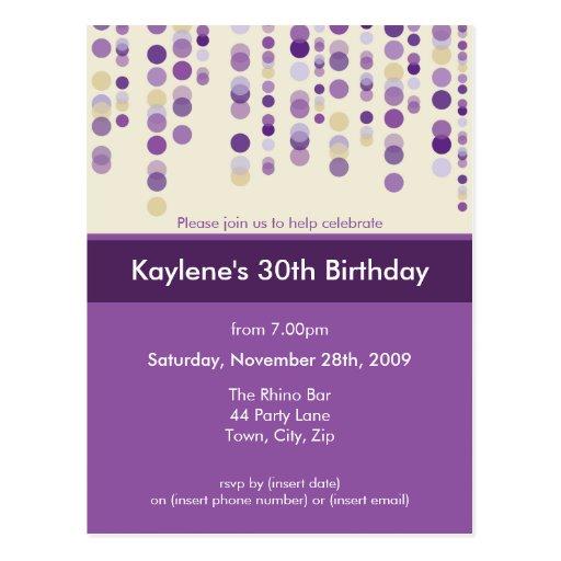 BIRTHDAY PARTY INVITATION :: discotek 7 Post Cards