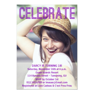 Birthday Party Photo Invitations